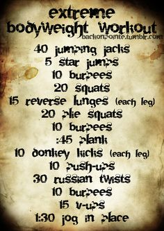 This workout may not require any weights, but make sure you have water handy! (A little gift to my readers who stick around through thick and thin. ilu guys.) {Don't lose weight fast, Lose weight NOW!| Amazing diet tips to lose weight fast| dieting has never been easier| lose weight healthy and fast, check it out!| amazing diet tips, lost 20lbs in under a month| awesome! This really works, I lose 40lbs already!|