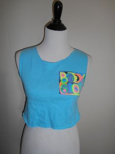 Vintage 80s 90s  Neon Body Glove  t shirt by ATELIERVINTAGESHOP