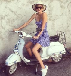 Miranda Kerr wears H&M's $10 high-street blue and white sundress in Austria | Daily Mail Online