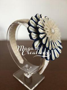 Diadema flor kanzashi diademas kanzashi accesorio del pelo