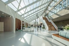 Dental Science, Radboud University, The Netherlands. By Inbo #renovation #hall #entrance #interior