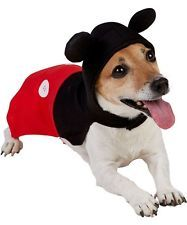 Pet Dog Cat DISNEY Mickey Mouse Halloween Christmas Fancy Dress Costume Outfit