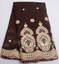 Neueste designs Afrikanischen pailletten spitze stoff hochwertigen indische seide George spitze stoff AMY230B-2(China (Mainland))