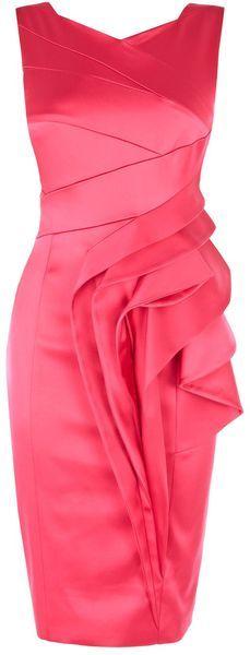 Karen Millen England Extreme Waterfall Satin Dress - Lyst  dressmesweetiedarling
