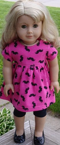 Pink Baby Doll Style Dress With A Mustache by AngelKissesBoutique, $22.99