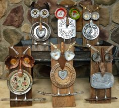 metal scrap owls | Scrap Metal Art Project: