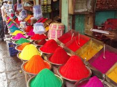 Rich spices and dyes at Indian markets