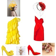 """""""Big Bird and Elmo from """"Sesame Street"""""""" by frogchickk on Polyvore"""