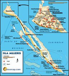 Isla Mujeres Mexico Maravillosa Esperanza is located just above the Parque Nacional El Garrafon - on the southern part of the island