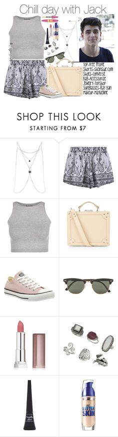 """Jack Gilinsky"" by yooitshrisiii ❤ liked on Polyvore featuring Topshop, Free People, Accessorize, Converse, Ray-Ban and Maybelline"