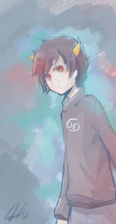 Karkat Vantas  Ahhh I love the way this artist portrayed him! Beautiful~