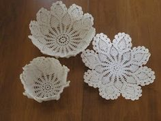 How to make lace bowls
