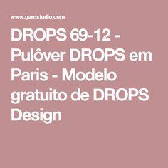 DROPS 69-12 - Pulôver DROPS em Paris - Modelo gratuito de DROPS Design