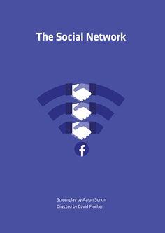 The Social Network minimal film poster on Behance