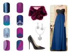 Anna (from Frozen) Disney Inspired Jamberry Nail pairings http://hollysparkles.jamberrynails.net