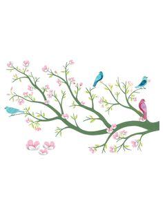 3D Cherry Blossom Wall Mural