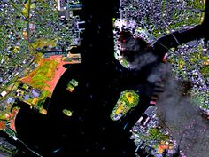 Satellites and astronauts in orbit witnessed the tragic events of 9/11 from their unique vantage points in space. These photos reveal what they saw.