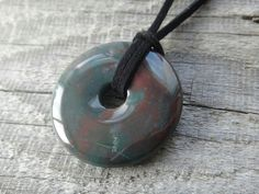 Blood stone, protection necklace - 2093