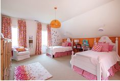 Teen Girl Bedrooms, Please Piece together this smart room transformation post number 1344723006 Pink Girl Room, Gorgeous Bedrooms, Bedroom Orange, Desks For Small Spaces, Room Decor Bedroom, Daybed Styles, Pink Bedroom For Girls, Interior Design, Pink Interiors Design