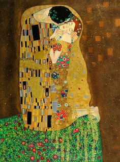 Create a gorgeous centerpiece in your favorite room in your home with this famous Gustav Klimt gallery wrapped canvas titled The Kiss. The artwork depicts a heart-warming kiss with subtle gold, brown