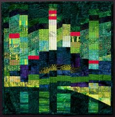 Emerald City II by Jeri Riggs, The Vehslage Fiber Art Collection