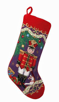 Nutcracker Soldier Needlepoint Stocking- A Love Of Dogs – For the Love Of Dogs - Shopping for a Cause