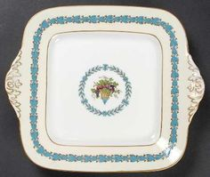 Wedgwood Appledore Handled Cake Plate