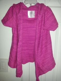 Justice Girls Short Sleeve Hoodie Sweater Pink Sz 7 js #Justice #Cardigan #Everyday