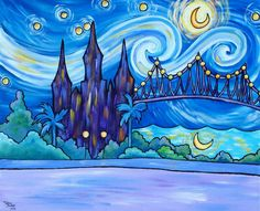 Melia moon? http://www.artistrising.com/products/352367/Crescent-Moon-New-Orleans-Night.htm