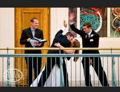 Funny groom and best man shot