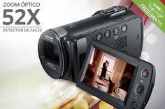 Filmadora Samsung HMX-F80, a partir de R$399.90