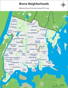 Bronx Map - R. and I lived in Pelham Parkway between the park and the El/lu