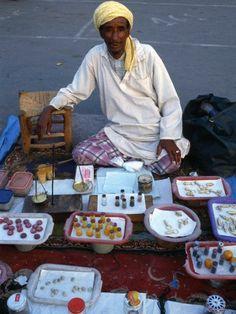 Marrakech, street vendor !   Morocco .