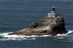 Tillamook Rock Lighthouse, Oregon   (Old Tilly)  I was only able to see her from the highway, but would LOVE to make it out that way again.  Apparently, you can also lay your ashes from cremation to rest here!  If I can't make it to Calvary Cemetery in Chicago, THIS will be option 2