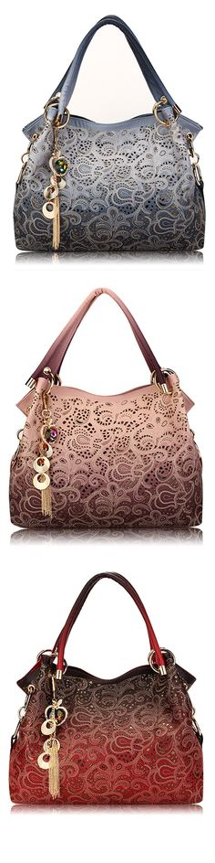 US$24.46 Women Vinage Hollow Out Pendant Shoulder Bags_ Elegant Retro Handbags
