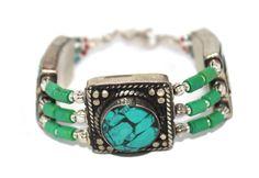 Yoga Turquoise Bracelet Boho Bracelet Gypsy Bracelet