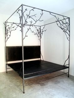 canopy bed in wrought iron by casamidyt
