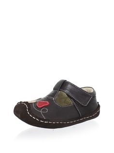 See Kai Run Liv Mary Jane (Brown) Sweet T-strap design features an adjustable hook-and-loop strap and a suede sole with rubberized tread for stability Kids