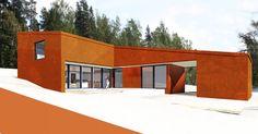 Teräsbetoni rakennus corten pinnalla | Arkkitehtitoimisto POOK