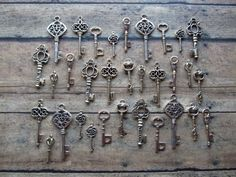 "Search: Skeleton Key in etsy. Beautiful keys. Ones with ""wings"""