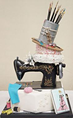 I love DIY project and I love cake decorating but I never thought of them together. Making fun and beautiful cakes is just amazing! These cakes are perfect for the crafty person in your life! I love it! I can't wait to make this for my mom who loves to knit and sew! This sweet treat is so cool and it's a great DIY craft project in itself! Pinning for later!