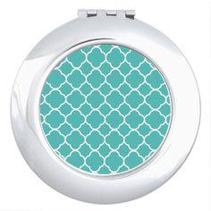 quatrefoil pattern mirror for makeup