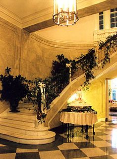 staircase in old governor's mansion