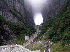 The 999 steps to Heaven's Gate Mountain, Zhangjiajie City, China.