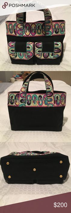 Emilio pucci purse In good used condition. Some small light stains inside. Two pockets outside the bag one inside Emilio Pucci Bags Totes