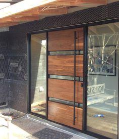 42 Ideas Front Door Design Interior For 2019 Front Door Entrance, House Front Door, House Doors, House Entrance, Entry Doors, The Doors, Entrance Ideas, Modern Entrance Door, Modern Front Door