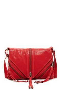 Red zipper purse