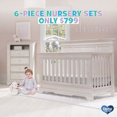 Free Delivery On The Nursery Of Your Dreams Starting At 799 Includes Crib Dresser Gliding Chair Mattress Pad And Sheets