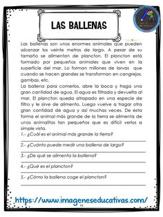 Spanish Worksheets, Spanish Teaching Resources, Spanish Language Learning, Spanish Lessons, Speech Language Therapy, Speech And Language, Reading Passages, Reading Comprehension, Spanish Exercises