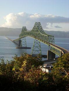 Astoria, Oregon Megler bridge over the Columbia River to Washington
